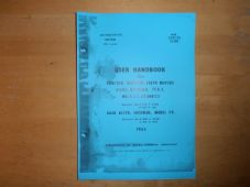Michigan.Light tractor.with back Acter, Sherman model F9. User handbook.